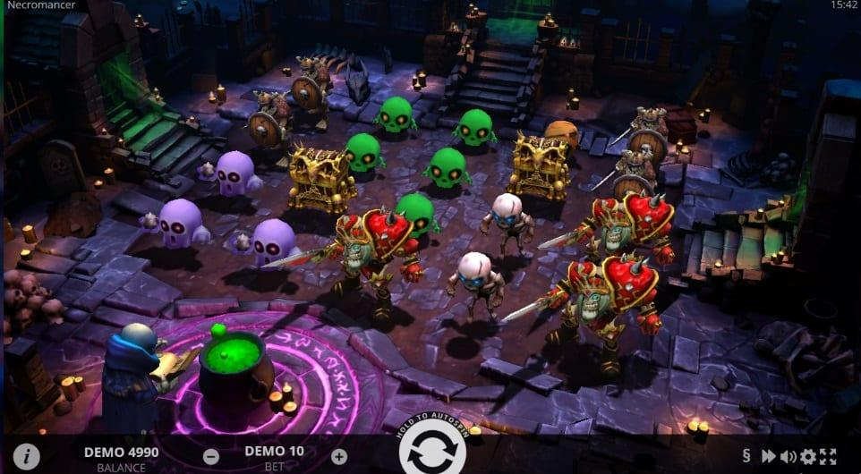 Necromancer Slot Return to Player: This revolutionary slot game has an RTP equal to 96% and you can spin away with a bet ranging between $0.20 and as much as $200.