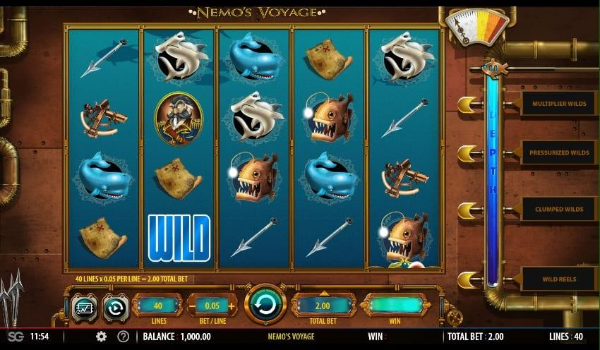 Nemo's Voyage Slot Return to Player - RTP: Nemo's Voyage has a high RTP of 99.00%, which means there are high chances of landing plenty of winning combinations during the gameplay.