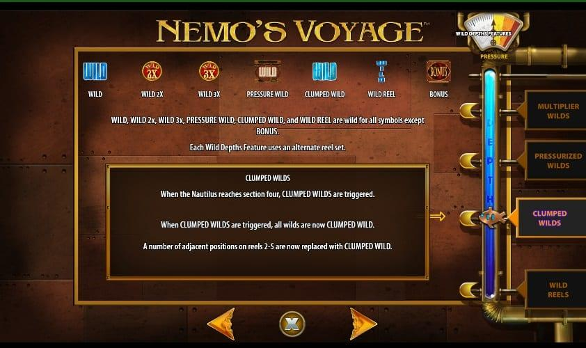 Nemo's Voyage Symbols: The standard Wild symbol acts as a substitute and helps to form additional winning combinations with all standard symbols, except the Bonus symbol.