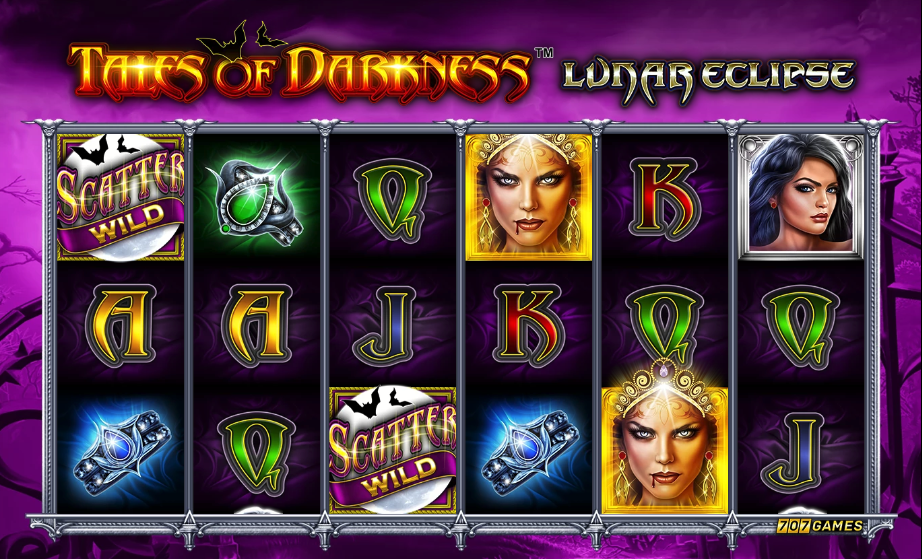 Tales of Darkness Lunar Eclipse Paytable: One thing is sure about this slot game, the payouts are quite hefty, players will need to land about five or six good combinations in order to trigger the massive winnings to fall out of the tree.