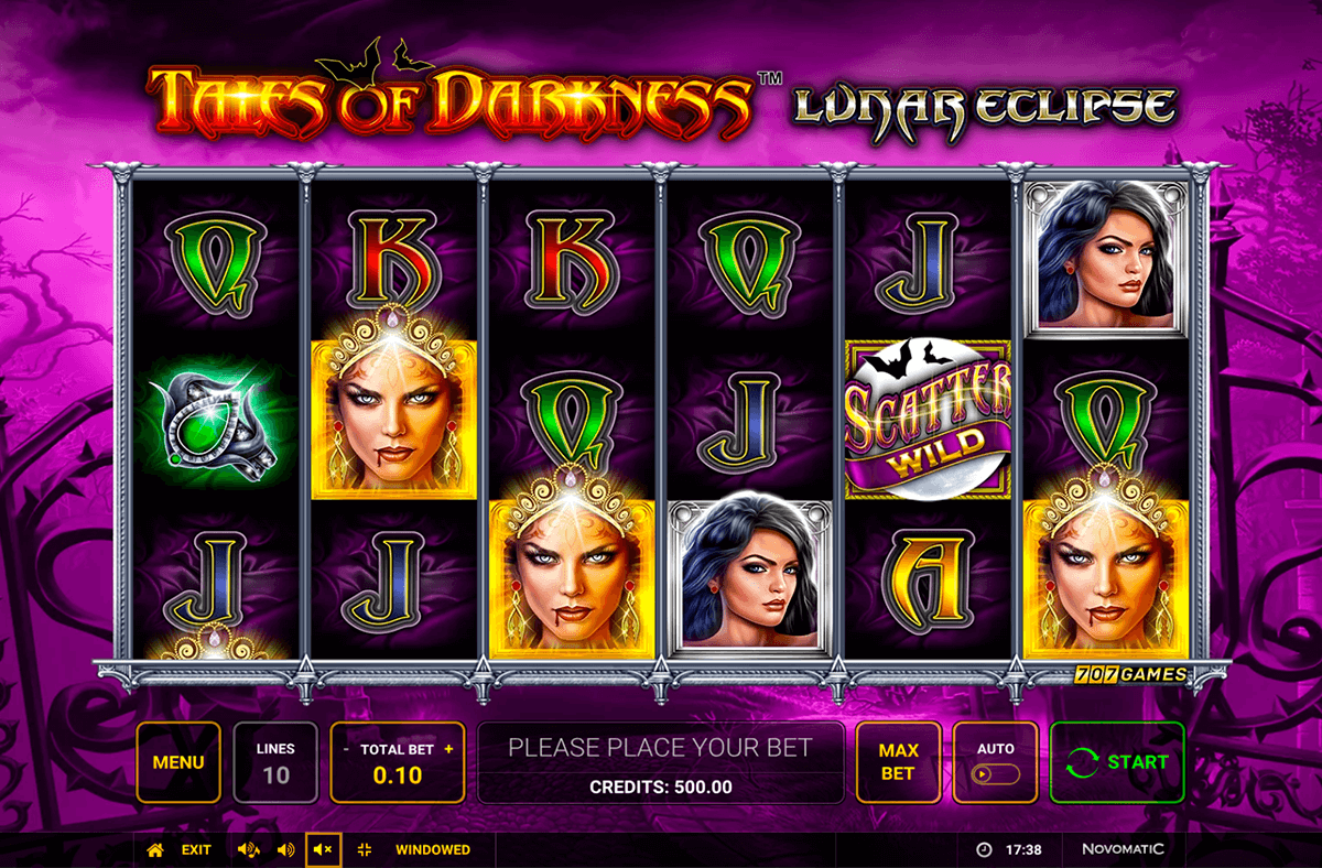 Tales of Darkness Lunar Eclipse Slot Return to Player: The overall Return to Player Ratio this game holds is around 95.01%, although we cannot guarantee that all players receive this return it is the average number.