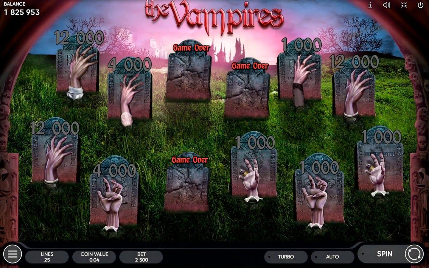 The Vampires Symbols: Here is the exciting part of The Vampire Slot Machine game. The Wild symbol is represented by a vampire bat.
