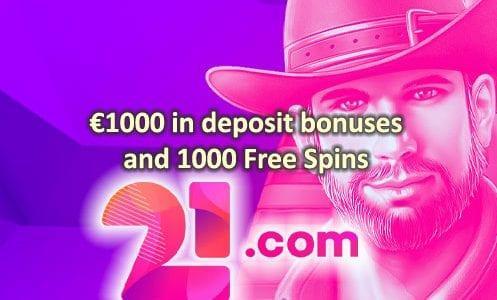 21.com Casino Welcome Offer