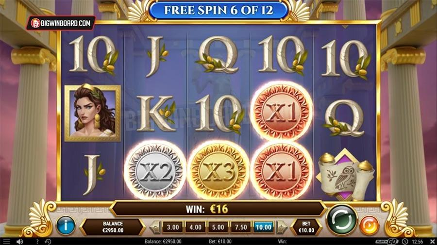 Rise of Athena Slot Paytable: When it comes down to how much you can win, there are lots of earnings to be made, players can get as much as 5,000 times their initial stake, and the Multiplier values let you combine up to 27 times your initial bet which can also be quite rewarding.