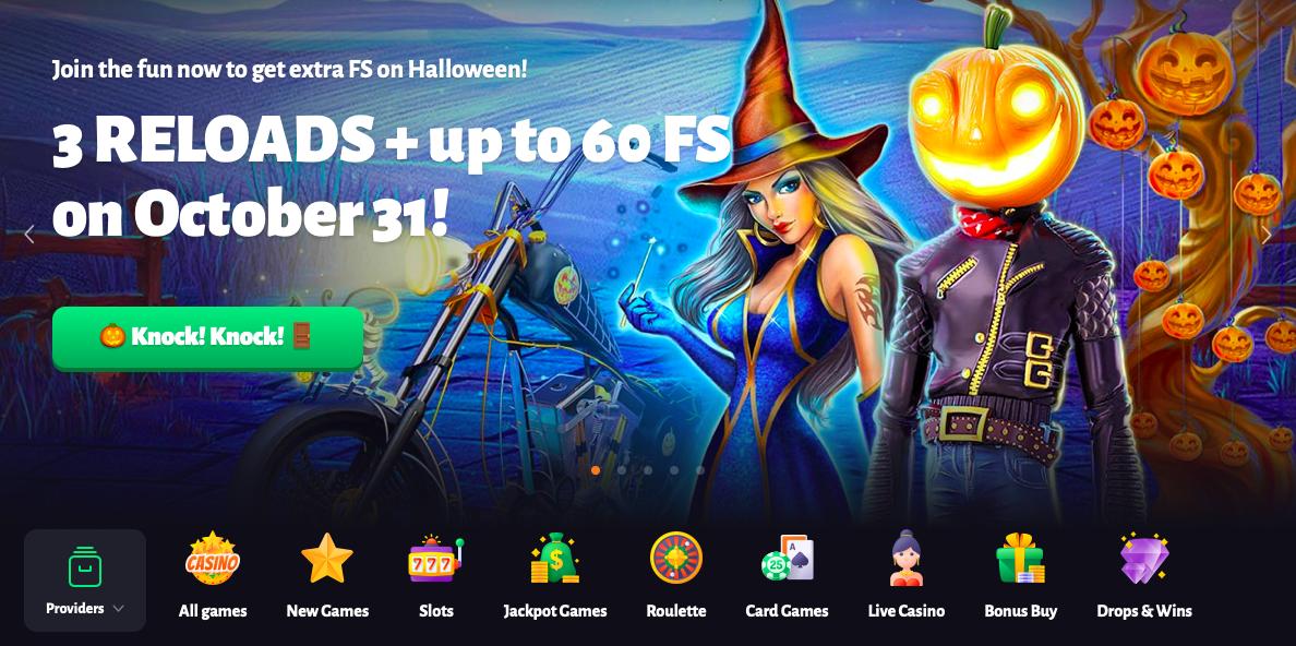 Slothunter Casino Halloween Bonus