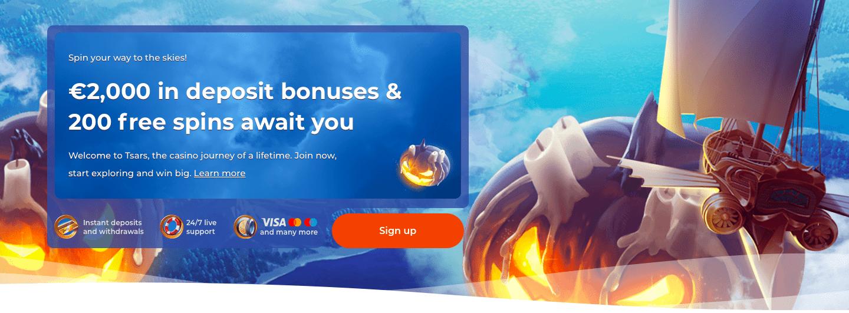Tsars Casino Halloween Bonuses 2020