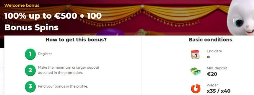 Cadabrus Casino 100 Percent Bonus