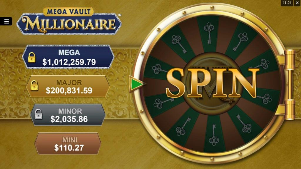 Mega Vault Millionaire Slot Paytable: The paytable of Mega Vault Millionaire slot is specially designed with luxurious symbols that any millionaire could own and keep in his vault at home.