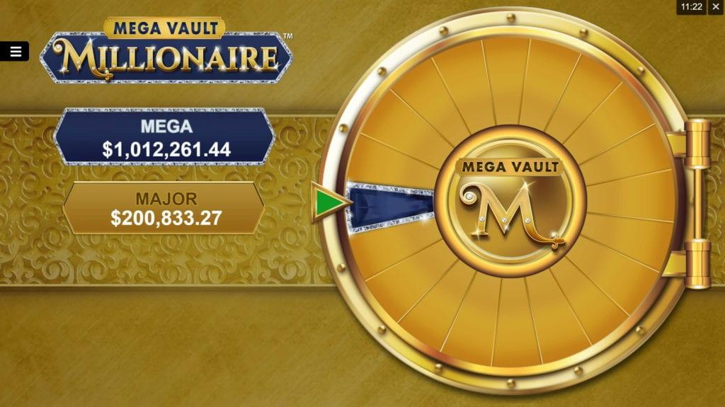 Mega Vault Millionaire Slot Symbols: Wild symbols on an active payline payout from $0.15 up to $150. When the Wild feature is activated, the Jewelry Box opens spelling 'WILD' with big letters.
