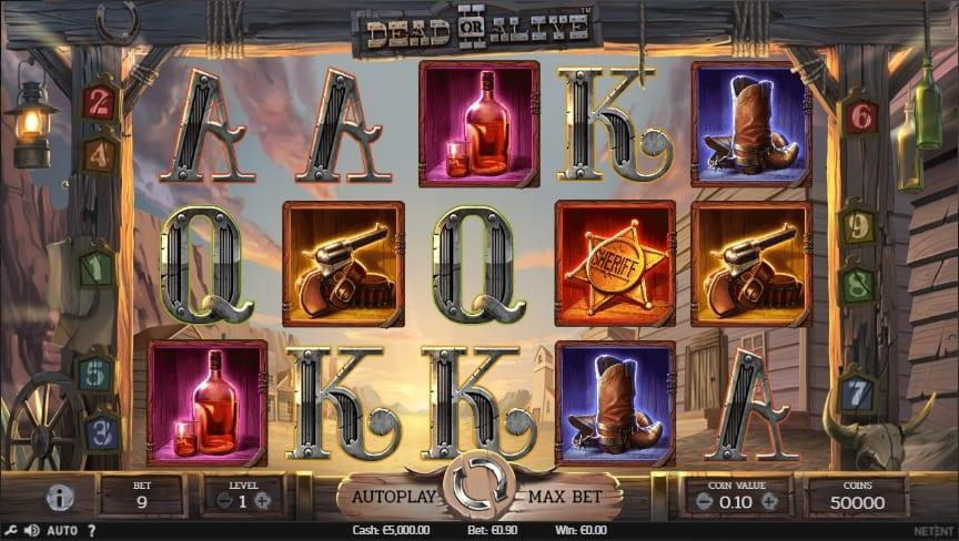 Dead or Alive 2 Free Spins: As mentioned above, the game itself offers up 3 different Free Spins games, each with a different RTP, and each with unique multipliers and Wild symbols.
