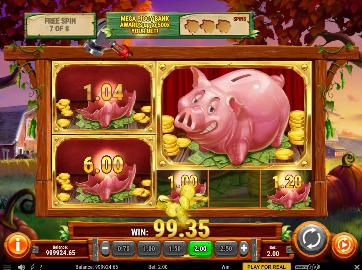 Piggy Bank Farm RTP: As far as the slot's Return to Player percentage is concerned, you can expect an RTP of around 96.20%.