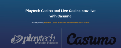 Casumo Casino and Playtech entered into partnership
