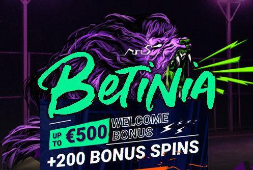 Betinia Casino Welcome bonus