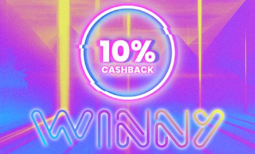 Winny Casino 10% Cahback Bonus