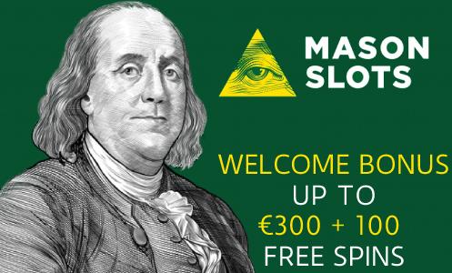Mason Slots Casino Welcome Bonus