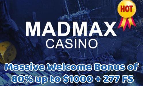Madmax Casino Massive Welcome Bonus