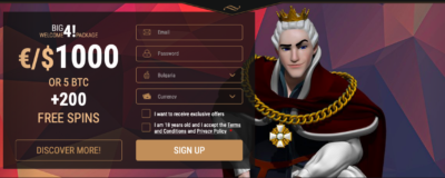King Billy Casino Registration
