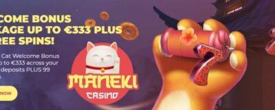 Maneki Casino Welcome Bonus