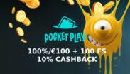 Grab HOT Pocket Play Casino Welcome Bonus!