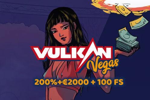 VulkanVegas Casino Welcome