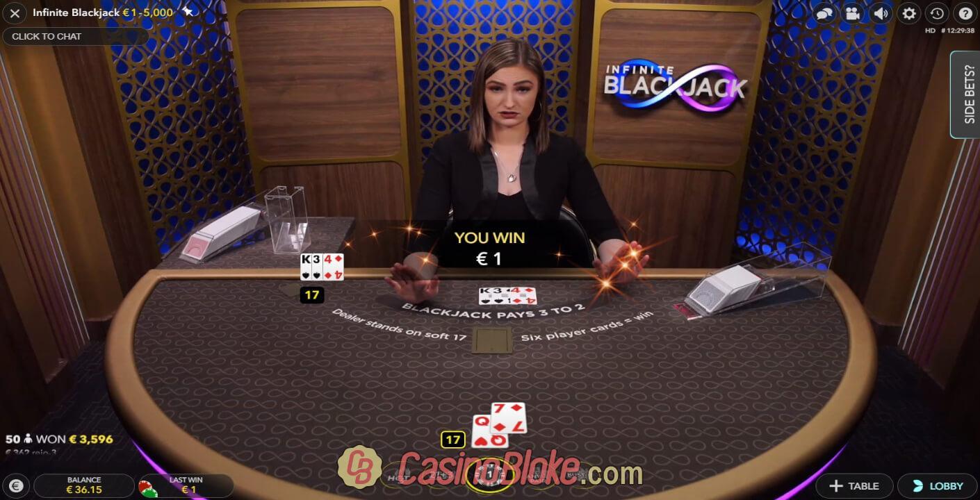 Live Infinite Blackjack