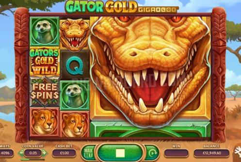 Gator Gold Gigablox Slot Symbols