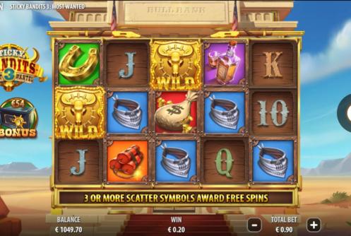 Sticky Bandits 3 - Most Wanted Slot screenshot