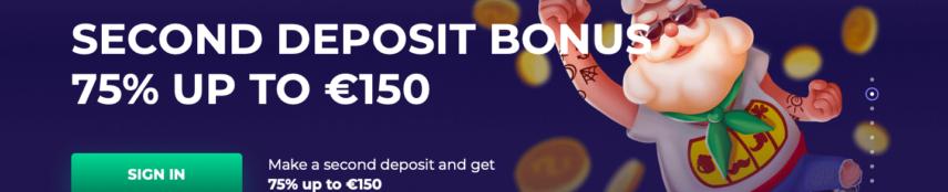 Pino Casino Second Deposit Bonus