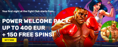 Fight Club Casino Welcome Pack
